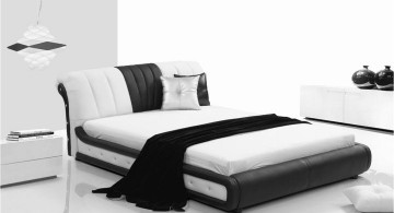 curved bed designs in monochrome