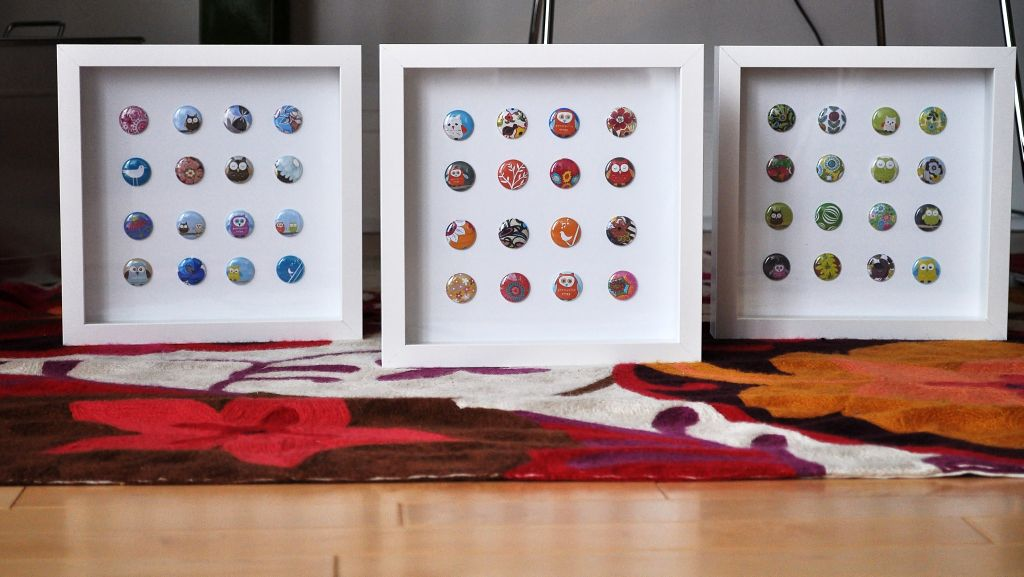 cute and easy framed buttons diy bedroom art