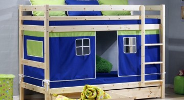 cute and minimalistic funky bunk beds