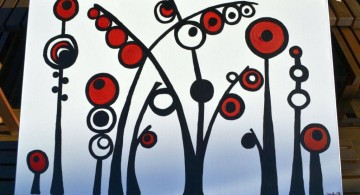 cute and simple painting ideas canvas abtract tree
