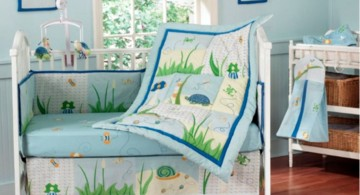 cute baby girl bedding ideas in blue