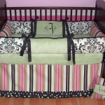 cute baby girl bedding ideas in flowers and stripes