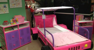 cute feminine car unique beds for girls