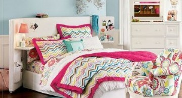 cute girls bedroom ideas with colorful linens