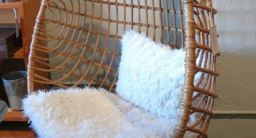 cute half egg modern papasan chair
