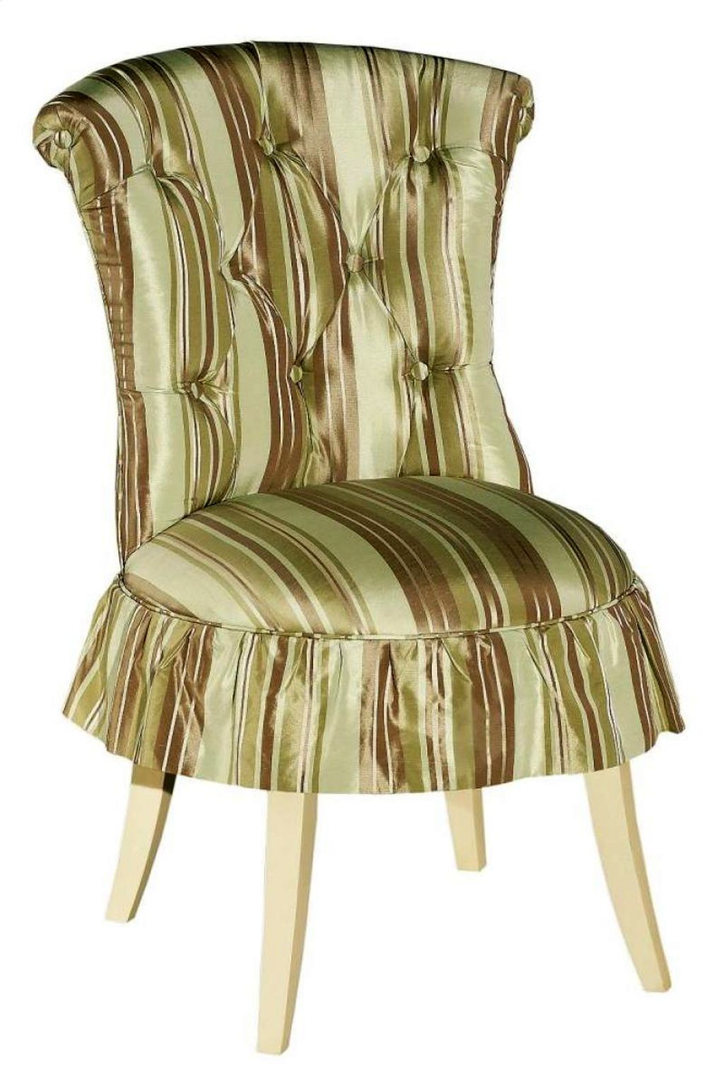 Cute Hickory Vanity Chair With Skirt