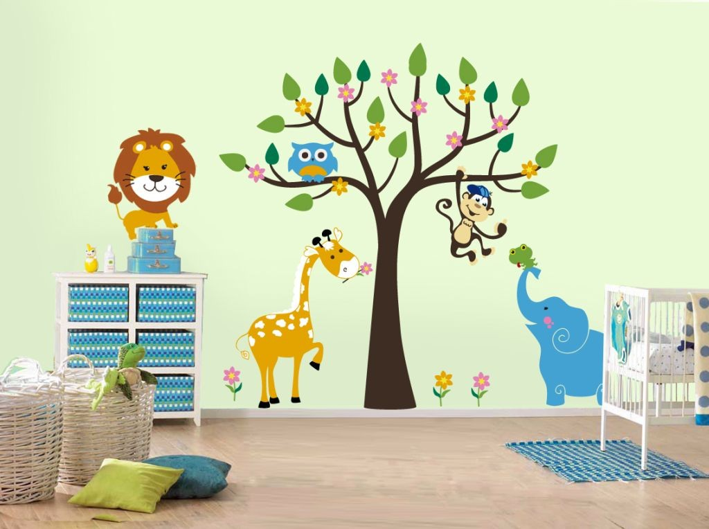 cute jungle theme kids rooms paint ideas