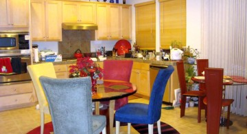 cute multi colored dining chairs