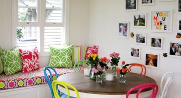 cute multi colored dining chairs for small dining rooms