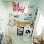 cute small laundry room storage solutions