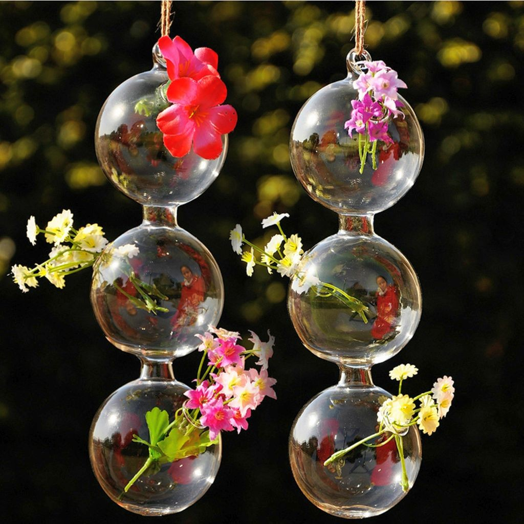 cute string of pearls style hanging flower vase