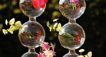 cute string of pearls style hanging flower vase