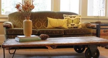 cute wood coffee table designs with wheels