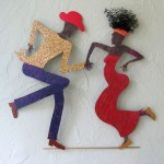 dancing people diy bedroom art