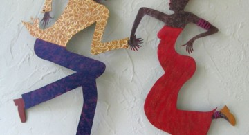 dancing people diy bedroom art