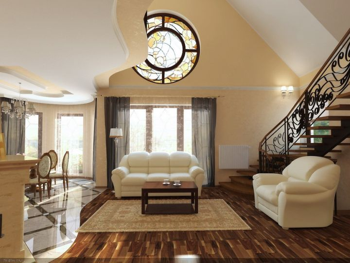 Dark Wooden Floor With Rug Tile Flooring Ideas For Living Room