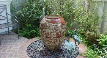decoration jug for landscape fountain design ideas