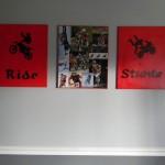 diy bedroom art for boys room