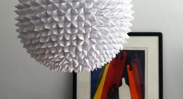 diy pendant lighting with paper mache