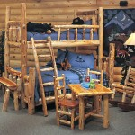 double bunks cabin bedroom decorating ideas for kids