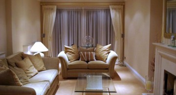 earth tone living room with beige walls