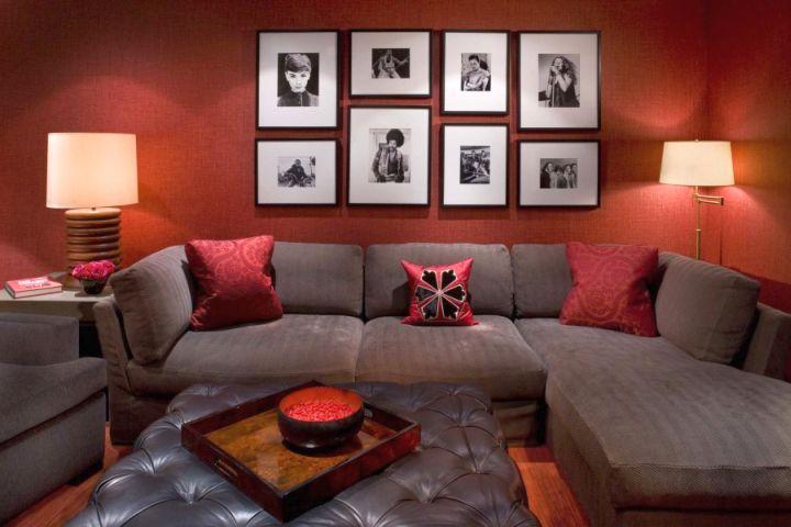 Contemporary Earth Tone Living Room Ideas Interior