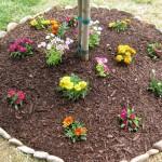 easy DIY stones for flower beds