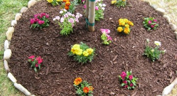 easy DIY stones for flower beds