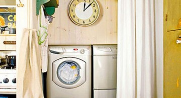 easy and simple small laundry room storage solutions