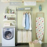 easy small laundry room storage solutions