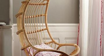 eggshell shaped bedroom swing chair