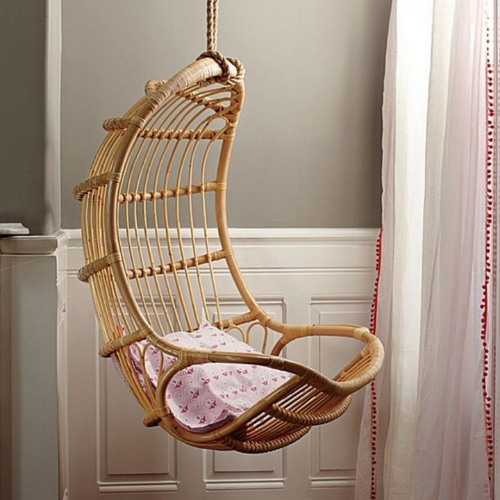 eggshell shaped bedroom swing chair. Black Bedroom Furniture Sets. Home Design Ideas