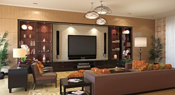 elegant entertainment room