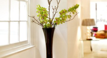 elegant floor vase with branches