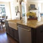 elegant kitchen island with sink