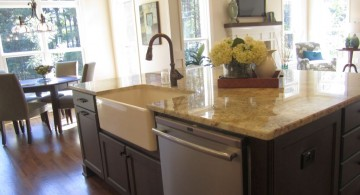 elegant kitchen island with sink