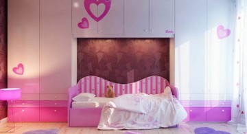 featured - pink toned and wall cabinet cute girls bedroom ideas