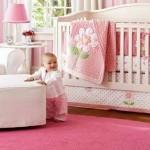 feminine and plush pink baby room ideas