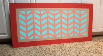 fishbone painting diy bedroom art