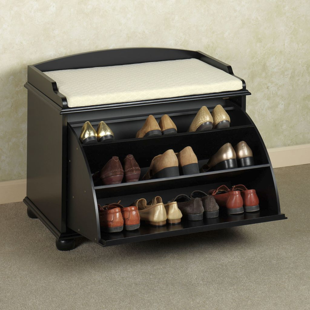 flip shoe cabinets design ideas with settee