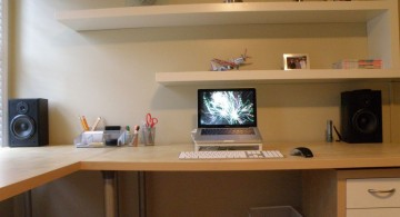 floating shelf decorating ideas for small office