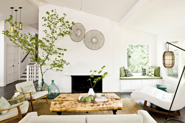 floor vase with branches for Asian themed living room