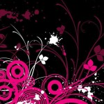 flower wallpaper pink and black wall decor