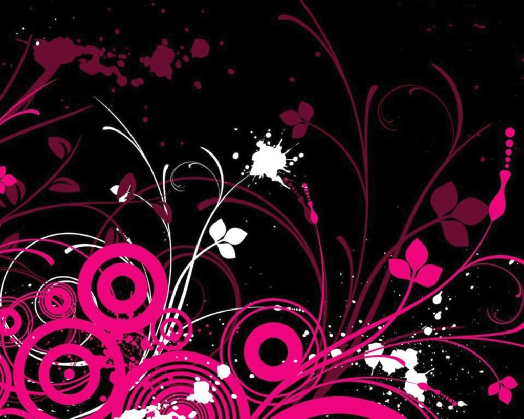 Flower wallpaper pink and black wall decor mightylinksfo