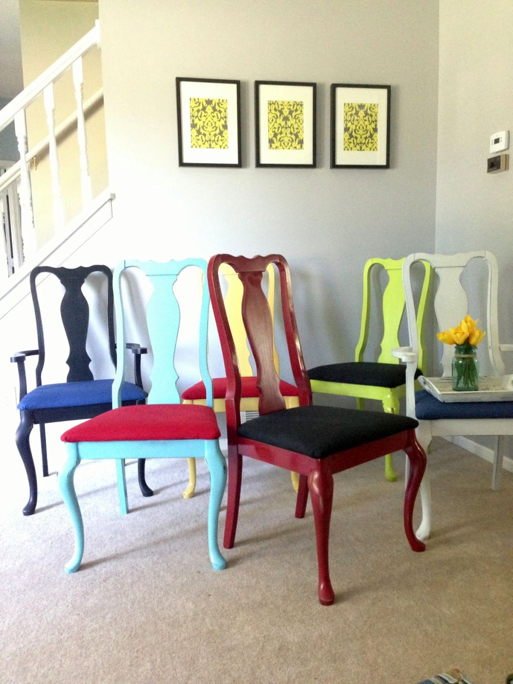 20 Fun Multi Colored Dining Chairs