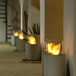 freestanding fireplaces designs for outdoor rooms