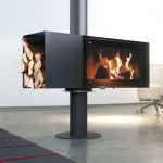 freestanding fireplaces designs using wood