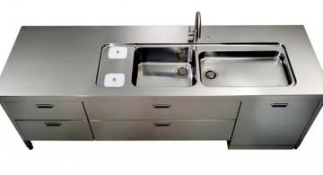 freestanding kitchen sinks in industrial grey