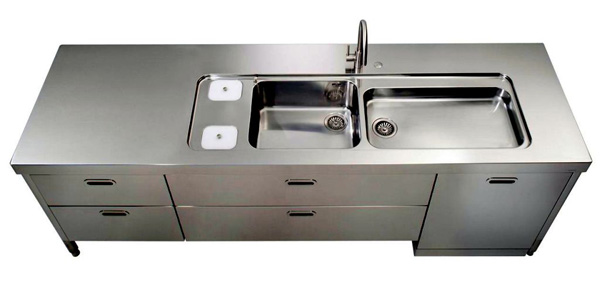 freestanding kitchen sinks in industrial grey