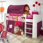 funky bunk beds in purple